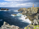 Isle of Lewis, Coast and Lighthouse at the Butt of Lewis. Scotland Reproduction photographique par Martin Zwick