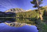 California, Sierra Nevada Mountains. Calm Reflections in Grass Lake Photographic Print by Dennis Flaherty