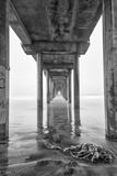 USA, California, La Jolla, Scripps Pier, Sunrise Photographic Print by John Ford