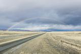 USA, Montana, Near Missoula, Rainbow over I-90 Photographic Print by Rob Tilley