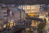 Czech Republic, Karlovy Vary. City Overlook of Carlsbad at Dusk Photographic Print by Emily Wilson