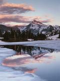 California, Sierra Nevada, Dana Peak Reflecting in a Frozen Lake Photographic Print by Christopher Talbot Frank