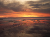 California, San Diego, Sunset over Tide Pools on the Pacific Ocean Photographic Print by Christopher Talbot Frank