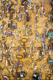 Keys on Display at Marche Aux Puces de Saint-Ouen, Paris France Photographic Print by Brian Jannsen