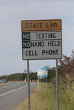 No Texting Sign on Us Highway 1 in Delaware Photographic Print by Dennis Brack