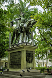 Statue of Liberator Simon Bolivar, Old City, Cartagena, Colombia Photographic Print by Jerry Ginsberg
