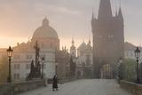 Charles Bridge at Dawn, Prague, Czech Republic Photographic Print by Peter Adams