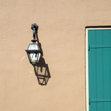 French Quarter, New Orleans, Louisiana. Lamp on Side of a Cottage Photographic Print by Charles O. Cecil