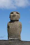 Chile, Easter Island, Hanga Nui. Rapa Nui, Ahu Tongariki. Moi Statue Photographic Print by Cindy Miller Hopkins