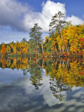 USA, Maine. Autumn Scenic of Upper Togue Pond Photographic Print by Steve Terrill