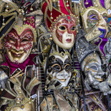 French Quarter, New Orleans, Louisiana. Mardi Gras Masks for Sale Photographic Print by Charles O. Cecil