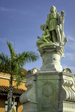 Statue of Christopher Columbus, Old City, Cartagena, Colombia Photographic Print by Jerry Ginsberg