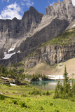 Glacier NP. Ptarmigan Wall. Alpine Lake Along Iceberg Lake Trail Photographic Print by Trish Drury