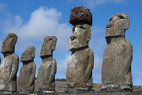 Chile, Easter Island, Rapa Nui NP, Ahu Tongariki. Moi Statues Photographic Print by Cindy Miller Hopkins