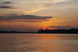 Sunset on the Ucayali River, Amazon Basin of Peru Photographic Print by Mallorie Ostrowitz