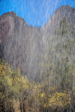 USA, Utah, Zion National Park. Waterfall Scenic Photographic Print by Jay O'brien