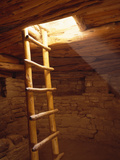 Ladder in a Kiva in Mesa Verde National Park, Colorado Photographic Print by Greg Probst