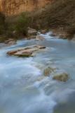 Arizona, Grand Canyon NP. Havasu Creek's Blue Water Through Canyon Photographic Print by Don Grall
