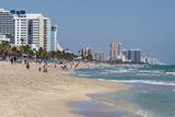 Ft. Lauderdale, Florida. Beach Scene Papier Photo par Charles O. Cecil