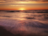 California, La Jolla, Sunset over a Beach and Waves on the Ocean Photographic Print by Christopher Talbot Frank
