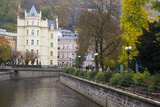 Along the Canal Street of Karlovy Vary, Czech Republic Photographic Print by Emily Wilson
