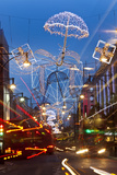 Oxford Street and Christmas Lights, London, UK Photographic Print by Peter Adams