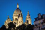Twilight over Basilique Du Sacre Coeur, Montmartre, Paris, France Photographic Print by Brian Jannsen