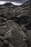 Lava Formations Sullivan Bay Santiago Island, Galapagos, Ecuador Photographic Print by Pete Oxford
