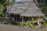 Thatched Roof Home Made of Leaves in the Peruvian Town of Amazonas Photographic Print by Mallorie Ostrowitz