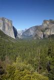 El Capitan, Half Dome, and Bridalveil Fall, Yosemite NP, California Photographic Print by David Wall
