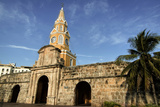 Clock Tower, Plaza de La Paz, Old City, Cartagena, Colombia Photographic Print by Jerry Ginsberg