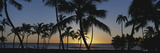 Hawaii Islands, Oahu, View of Beautiful Sunset of Sea Photographic Print by Douglas Peebles