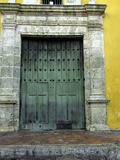 Church in the Plaza de La Trinidad, Old City, Cartagena, Colombia Photographic Print by Jerry Ginsberg