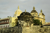 Spanish Colonial Walls and Fortifications, Cartagena, Colombia Photographic Print by Jerry Ginsberg