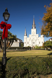 LA, New Orleans. Jackson Square St Louis Cathedral Plaza d' Armas Photographic Print by Trish Drury