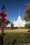 LA, New Orleans. Jackson Square St Louis Cathedral Plaza d' Armas Photographic Print by Trish Drury