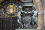 Cherub Figures on Lamppost Hotel de Ville, Paris, France Photographic Print by Brian Jannsen