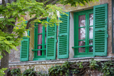 Green Shuttered Window on Lapin Agile, Montmartre, Paris, France Photographic Print by Brian Jannsen