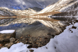 USA, California, Sierra Nevada Range. Spring Snow at North Lake Photographic Print by Dennis Flaherty