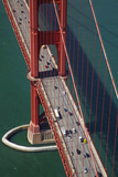 California, San Francisco, Traffic on Golden Gate Bridge Photographic Print by David Wall