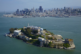 California, San Francisco, Alcatraz Island, San Francisco Bay, Aerial Photographic Print by David Wall