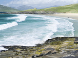 Borve Beach on South Harris in Stormy Weather, Scotland Photographic Print by Martin Zwick
