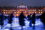 Ice Skaters at Somerset House Ice Rink London England UK Photographic Print by Peter Adams