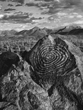 USA, Arizona, Saguaro National Park. Petroglyphs on Signal Hill Photographic Print by Dennis Flaherty