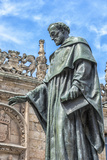 Spain, Salamanca, Frei Luis de Leon in Courtyard of the Clergy Photographic Print by Lisa S. Engelbrecht