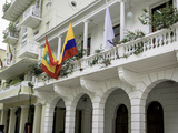 Wonderful Spanish Colonial Architecture, Old City, Cartagena, Colombia Photographic Print by Jerry Ginsberg