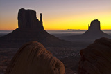 Sunrise, West and East Mitten, Monument Valley, Arizona Photographic Print by Michel Hersen