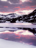 California, Sierra Nevada, Sunset, Mountains Reflecting on Ellery Lake Photographic Print by Christopher Talbot Frank