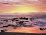 California, San Diego. Sunset Cliffs Tide Pools Reflecting the Sunset Photographic Print by Christopher Talbot Frank
