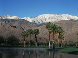 USA, California, Palm Springs, Reflection of San Jacinto Range in Lake Photographic Print by Zandria Muench Beraldo